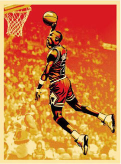 Shepard Fairey Michael Jordan Chicago Bulls, 2009