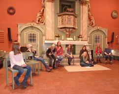 """Kinder der """"Theaterschmiede"""" beim Anspiel / Foto: Christine Gevers"""