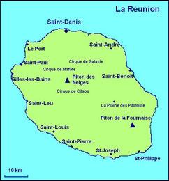 Karte La Réunion