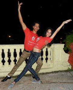 Tanzlehrer Chino und Yaneyvis
