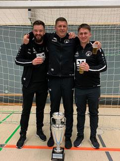 Erfolgreiches Trainerteam, Marvin Backhaus, Patrick Wojwod und Jan Golembiewski.