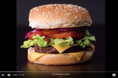 Bild eines Burgers aus einem YouTube Video