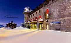 Bild:  Kulm-Hotel auf dem Gornegrat in  Zermatt