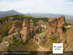Die roten Felsen von Belogradchik, Rundreise in Bulgarien