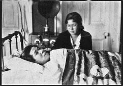 1932年 大学1年春・広島女学院にて療養
