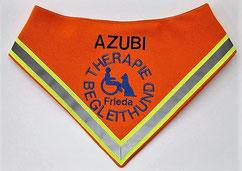 Therapie Begleithund / Halstuch / AZUBI mit Name bestickt