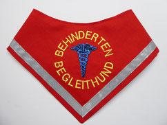 Behinderten Begleithund Azubi / Halstuch, rot, Aesculapstab