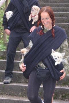Eva Windisch mit ihren Hunden