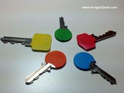 llaves codificadas por colores - www.AorganiZarte.com