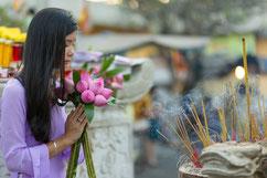 Respekt vor der Religion ist besonders wichtig auf Reisen durch Vietnam.