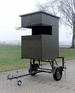Sedlmaier Revierbedarf, Mobile Sitzkanzel, 50 cm erhöht, Jäger, Jagd, Wild, Wald