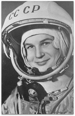 Valentina Tereshkova, primera mujer que viajó al espacio exterior en 1963.