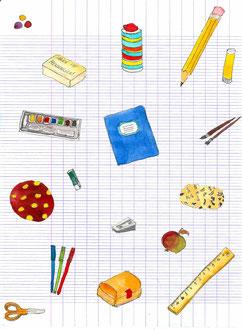 Grußkarte Schule Einschulung