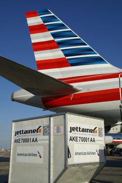 American Airlines Cargo is one of Jettainer key clients  - courtesy Jettainer