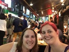 Carol and I at a yakitori restaurant in Ueno, Tokyo