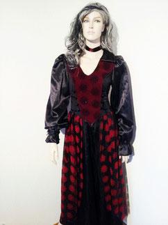 Draculas Braut, Gr.36, Fr.39.- Kleid und Samthalsband (ohne Perücke)