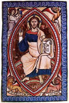 Le Christ en Gloire, enluminure du XIIe siècle