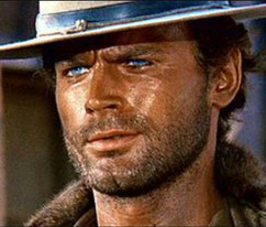 An unusually menacing Terence Hill