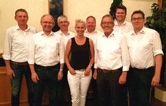Gruppenbild des Vorstandes mit Silvia Breher