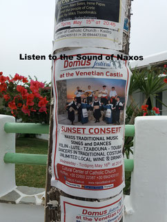 Local Announcements and go Listen to the sound of Naxos Greece -Enjoy Naxos