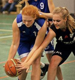 Anna von Bremen sammelte zahlreiche Rebounds ein. Foto: Gust