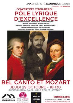 Affiche du concert «Bel Canto & Mozart»