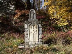 l'oratoire de Saint-Guiralhet, ou l'on s'arrête avant la montée du GR 71