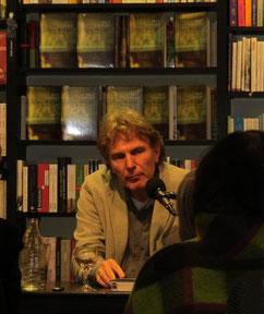 Rolf Lappert bei der Buchhandlung Slawski