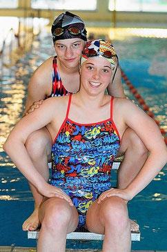 Annika Günzel (hinten) und Pia Oberhokamp (Foto: Heiko Kaiser, NW)