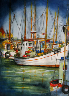 """© Odenthal """"Fischerboote im Hafen"""""""