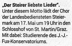 © Kleine Zeitung vom 10.05.2018