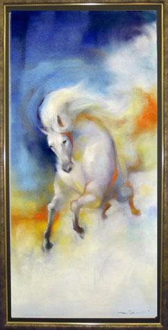 馬 馬の絵 白馬 パステル画教室
