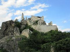 Burg Dürnstein, Blick von der Vorburg auf die Hauptburg