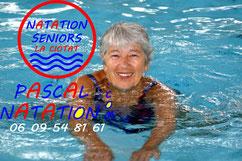 Séance de natation pour les seniors à La Ciotat Piscine Pascal Natation