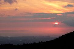 展望台からの夕焼け
