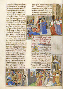 Rixes à Paris entre étudiants et bourgeois (1230) - Paris, BnF, ms. fr.2829 f°11v°. Temple de Paris