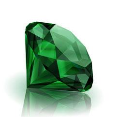Grüner Smaragd, Aventurin, Jade ...