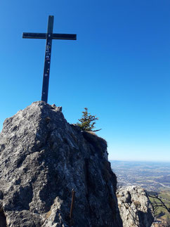 Nockstein Gipfelkreuz über Salzburg