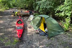 Wildcamp an der Otava