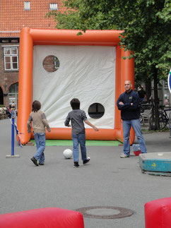 Torwand, Fußball-Wettkampf