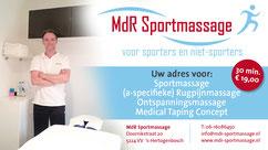 sportmasseur, massage, sportmassage, MdR Sportmassage, Wladimirov Fitness en Welness Den Bosch, rugpijn, ontspanningsmassage 19 euro