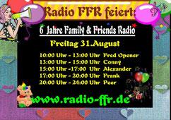 Sendung von Peer Wagener am 31.08.2018 bei www.radio-ffr.de