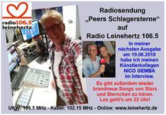 """""""Peers Schlagersterne"""" am 17.04.2018 bei radio leinehertz 106.5"""