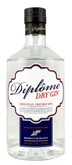 Diplôme 1945 Original Recipe French Dry Gin