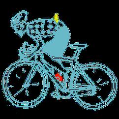 Zeichnung eines Rennradfahrers des Cycling Team Schweinfurts