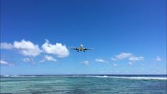 Air New Zealand in Rarotonga, watch planes land in Rarotonga