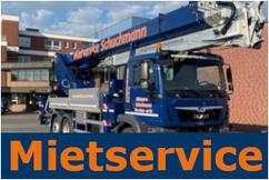 Mietservice Schuchmann, Vermietung von Kranfahrzeugen, Arbeitsbühnen, Hubwagen, Aufzügen, Baumaschinen