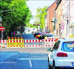 Mitte nächster Woche ist die Bischofstraße wieder befahrbar. Foto: J. Lange