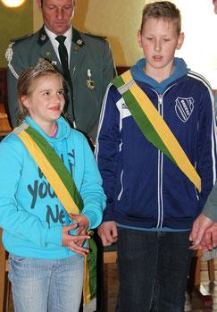 Kinderkönige 2015 - Miriam Gausmann und Jonas Jirjahn
