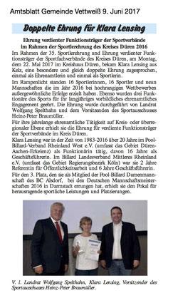Amtsblatt Gemeinde Vettweiß 09.06.2017
